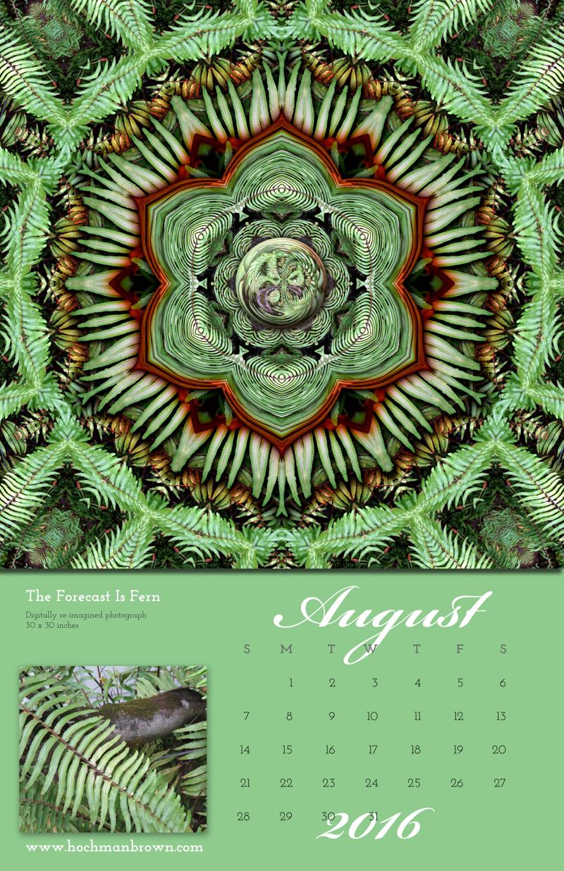 2016 Calendar August