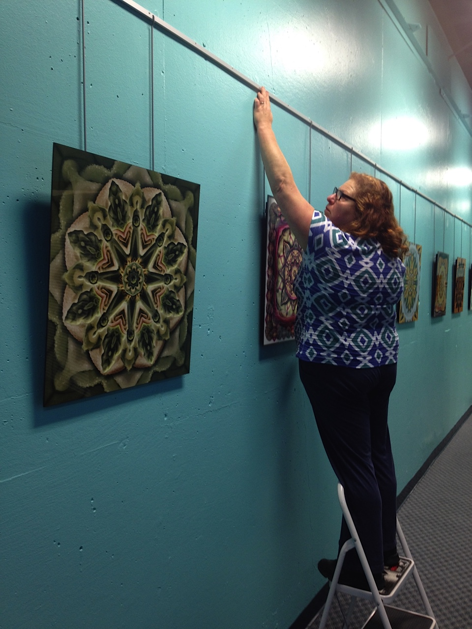 Hanging my work at the Federation