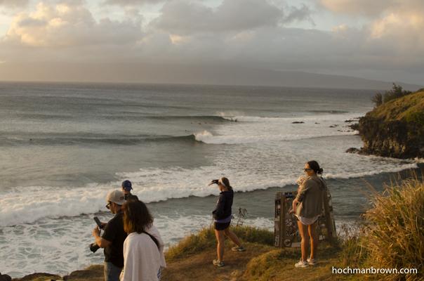 Watching surf at Honolua Bay