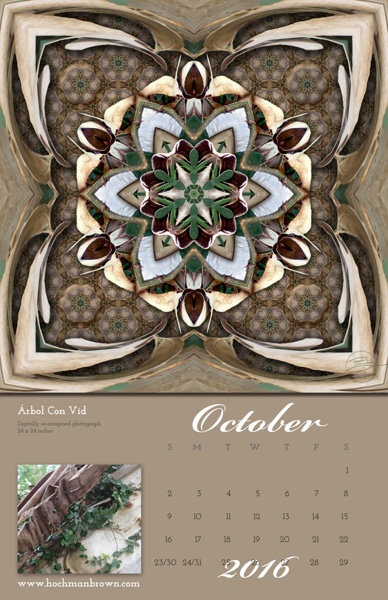 Calendar page for October 2016 from Karen Hochman Brown